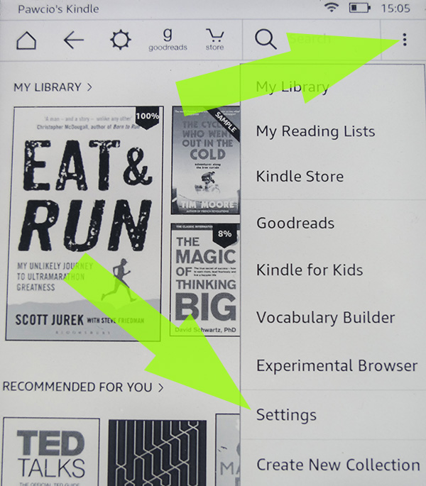 Find your Amazon Kindle email address