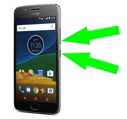 How to screenshot on Moto G5 and G6