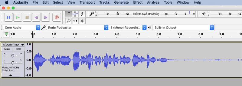 Audacity background noise